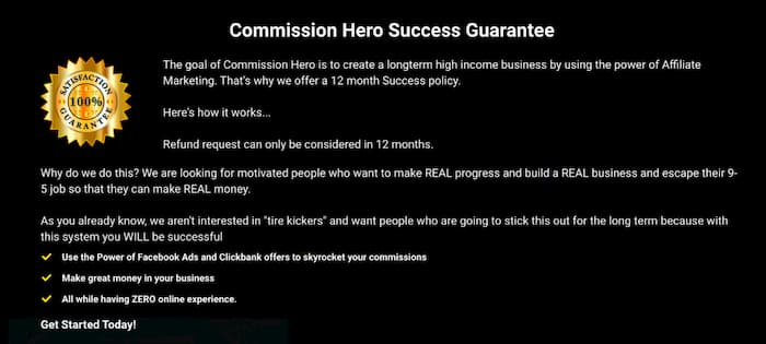 Commission Hero Warranty Query